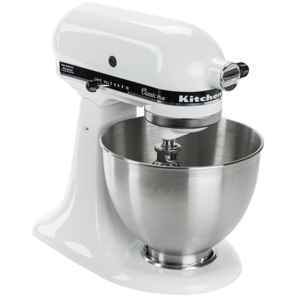 KitchenAid KSM75WH White 4.5 Qt. Countertop Mixer