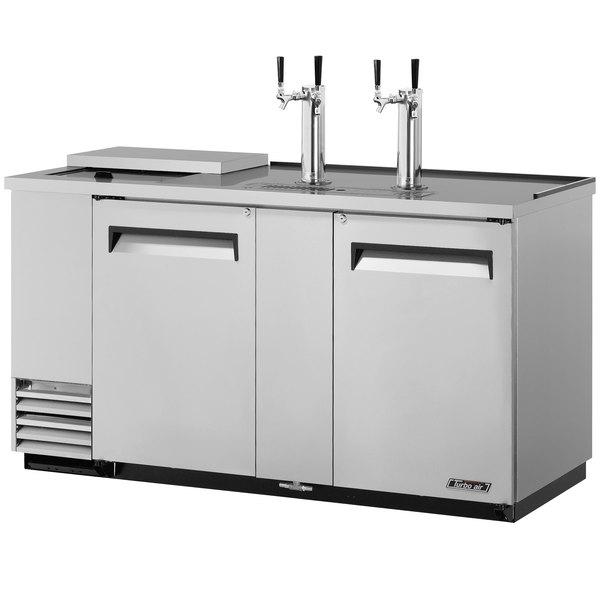 "Turbo Air TCB-3SD 69"" Super Deluxe Stainless Steel Club Top Beer Dispenser - 3 Kegs"