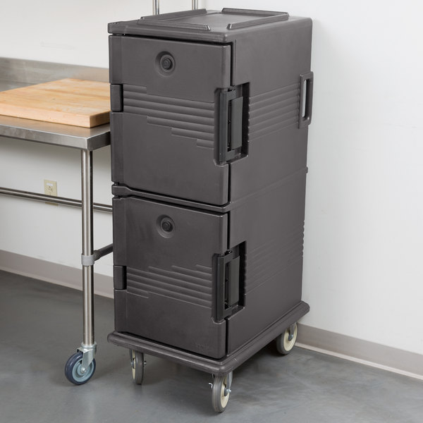 Cambro UPC800191 Granite Gray Camcart Ultra Pan Carrier - Front Load