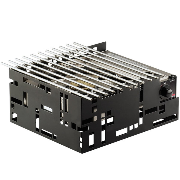 "Cal-Mil 1617-13 Black Steel Squared 13"" x 11"" Butane Stove Frame Main Image 1"