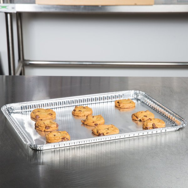 "Durable Packaging 7000-45 16 1/2"" x 11 5/8"" Foil Cake Pan - 100/Case"