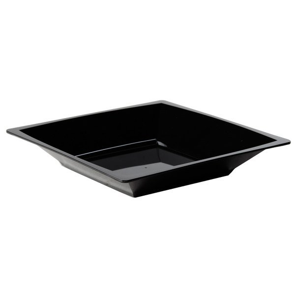 WNA Comet MSBWL12BK 12 oz. Black Square Milan Bowl - 12/Pack Main Image 1