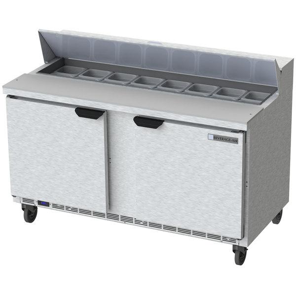 """Beverage-Air SPE60-16 Elite Series 60"""" 2 Door Refrigerated Sandwich Prep Table"""