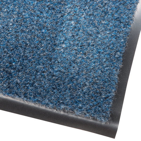 "Cactus Mat 1437R-U4 Catalina Standard-Duty 4' x 60' Blue Olefin Carpet Entrance Floor Mat Roll - 5/16"" Thick"