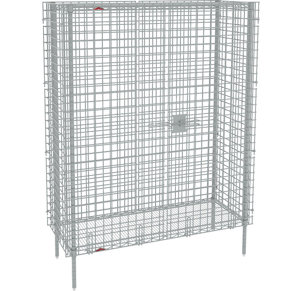 "Metro SEC35S Stainless Steel Stationary Wire Security Cabinet 50 1/2"" x 21 1/2"" x 66 13/16"""