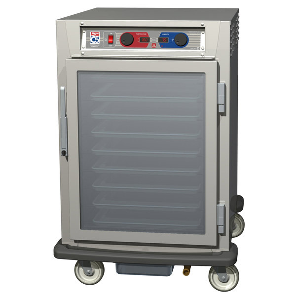 Metro C595-SFC-UPFC C5 8 Series Pass-Through Heated Holding and Proofing Cabinet - Clear Doors Main Image 1