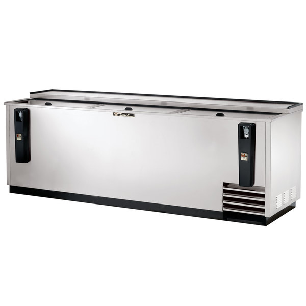 """True TD-95-38-S 95"""" Stainless Steel Horizontal Bottle Cooler"""