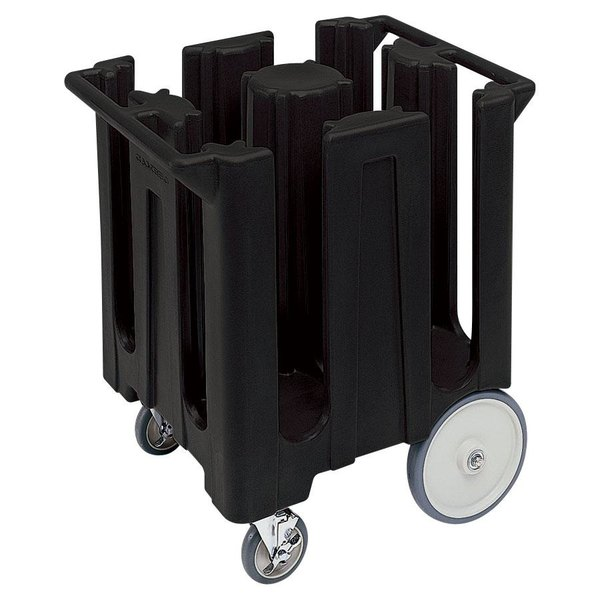 Cambro DC825110 Poker Chip Black Dish Dolly / Caddy with Vinyl Cover - 4 Column