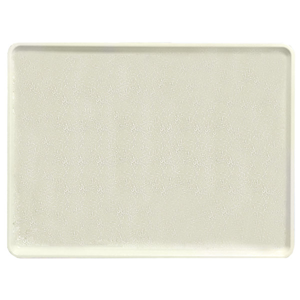 """Cambro 1216D526 12"""" x 16"""" Galaxy Antique Parchment Gold Dietary Tray - 12/Case"""