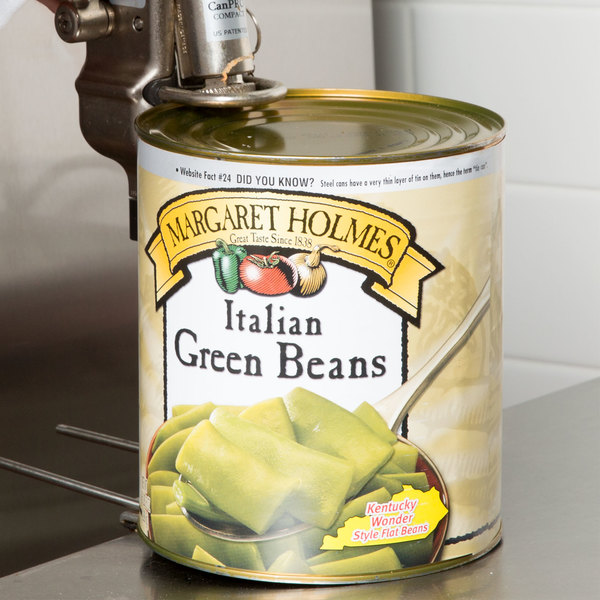 Margaret Holmes #10 Can Italian Style Cut Green Beans - 6/Case
