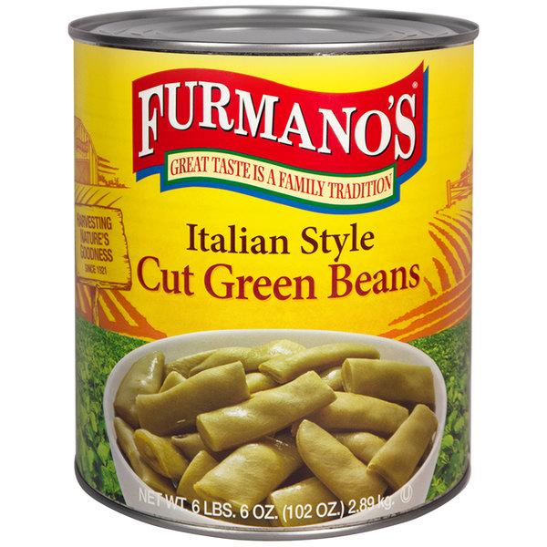 Furmano's #10 Can Italian Style Cut Green Beans - 6/Case