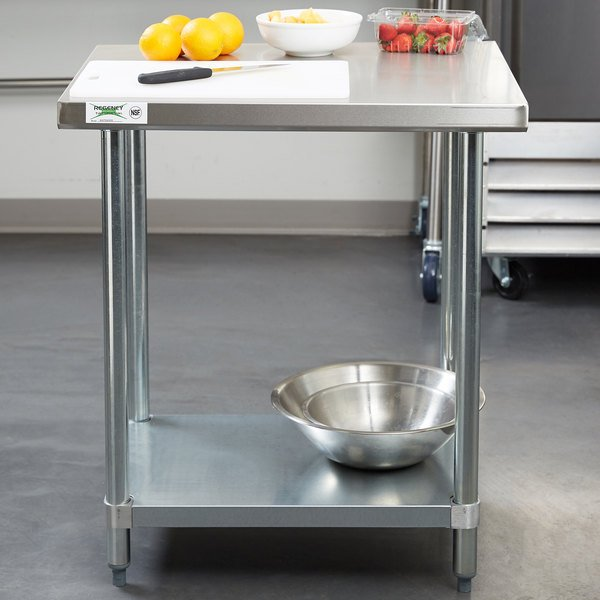 Enjoyable Regency 24 X 30 18 Gauge 304 Stainless Steel Commercial Work Table With Galvanized Legs And Undershelf Cjindustries Chair Design For Home Cjindustriesco