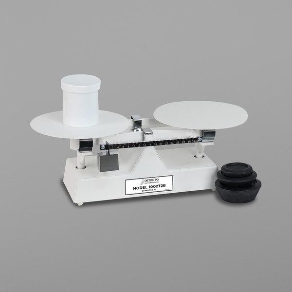 Cardinal Detecto 1002T2BNS 8 lb. Baked Enamel Baker's Dough Scale - 32 oz. x 0.5 oz. Beam Grads