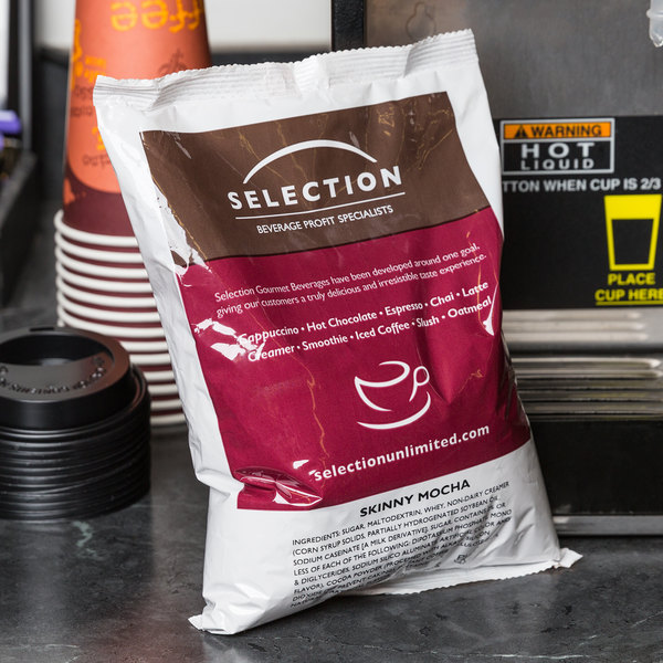 Skinny Mocha Cappuccino Mix 2 lb. Bags - 6/Case