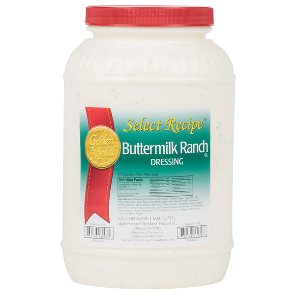 Ranch Dressing 1 Gallon Container - 4/Case