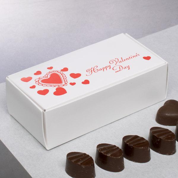 "5 1/2"" x 2 3/4"" x 1 3/4"" 1-Piece 1/2 lb. Valentine's Day Candy Box - 250/Case"