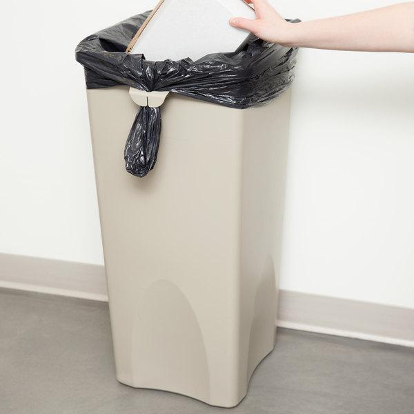 Rubbermaid FG356988BEIG Untouchable Beige 23 Gallon Square Trash Can
