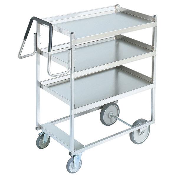 "Vollrath 97203 Heavy-Duty Stainless Steel 3 Shelf Utility Cart - 44"" x 23"" x 44 1/2"""