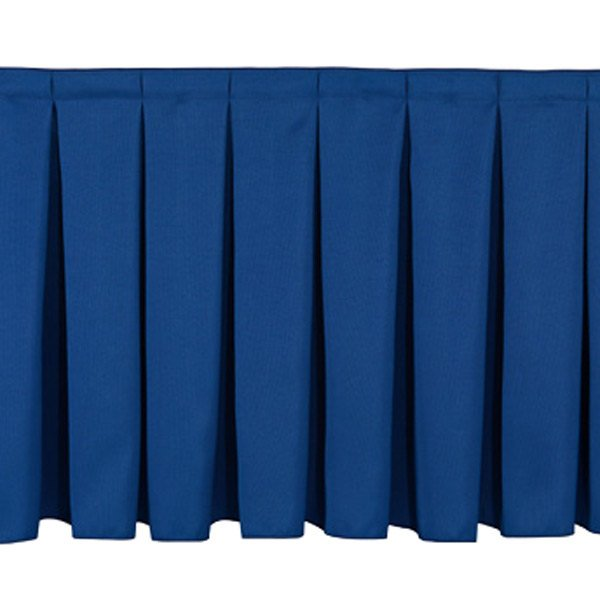"National Public Seating SB24-36 Navy Box Stage Skirt for 24"" Stage - 36"" Long"