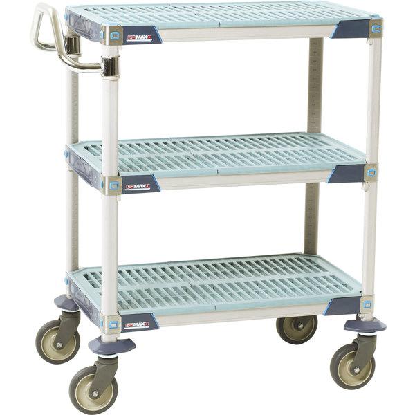 "Metro MXUC2436G-35 MetroMax i 3 Shelf Utility Cart with 5"" Polyurethane Casters 24"" x 36"""