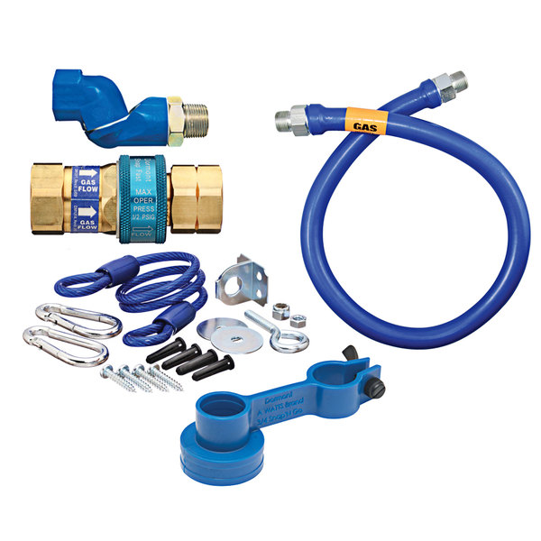 """Dormont 1675BPQSR48 SnapFast® 48"""" Gas Connector Kit with One Swivel and Restraining Cable - 3/4"""" Diameter Main Image 1"""