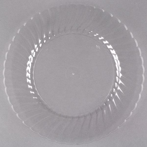 WNA Comet CW9180C Classicware 9 inch Clear Plastic Plate - 180/Case