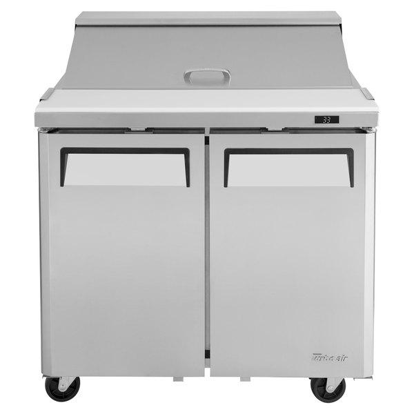 "Turbo Air MST-36 36"" 2 Door Mega Top Refrigerated Sandwich Prep Table"