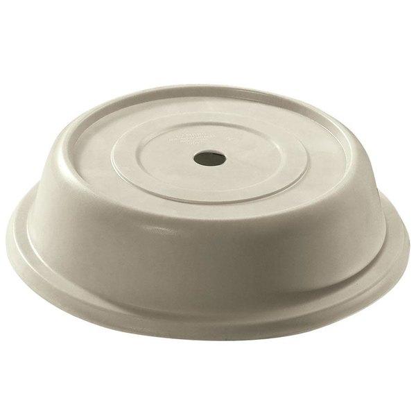 "Cambro 68VS101 Versa Camcover 6 1/2"" Antique Parchment Round Plate Cover - 12/Case"