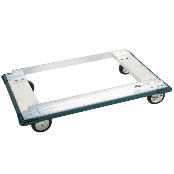 """Metro D55JN Aluminum Truck Dolly with Wraparound Bumper and Neoprene Casters 24"""" x 48"""""""