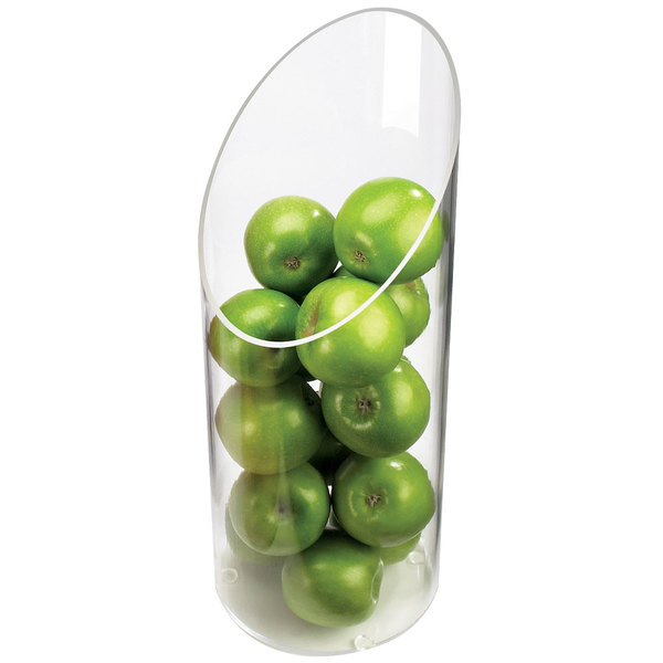 "Cal-Mil 1324-16 Sloped Clear Plastic Accent Display Vase - 6"" x 16"" Main Image 1"