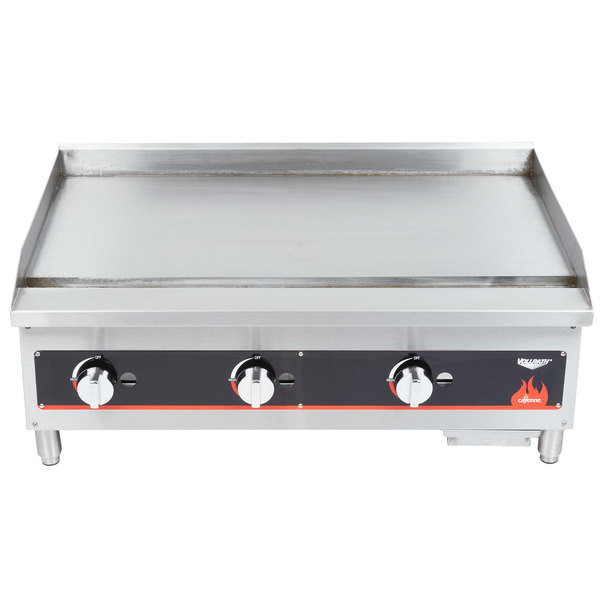 """Vollrath 40721 Cayenne 36"""" Flat Top Gas Countertop Griddle - Manual Control"""