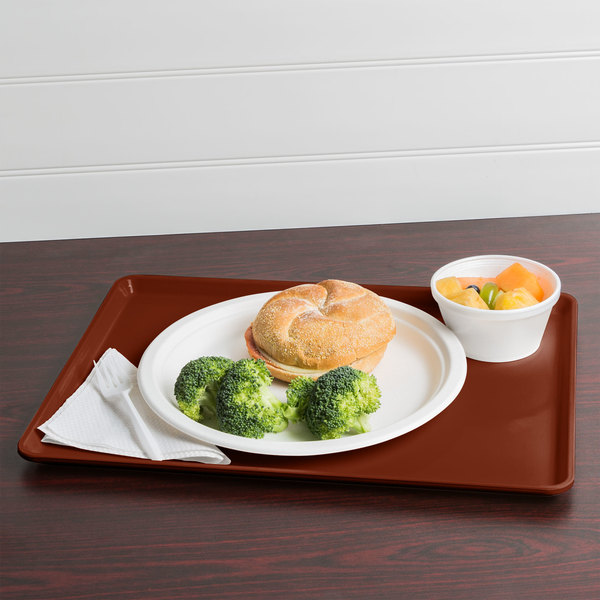 """Cambro 1216D501 12"""" x 16"""" Real Rust Dietary Tray - 12/Case"""