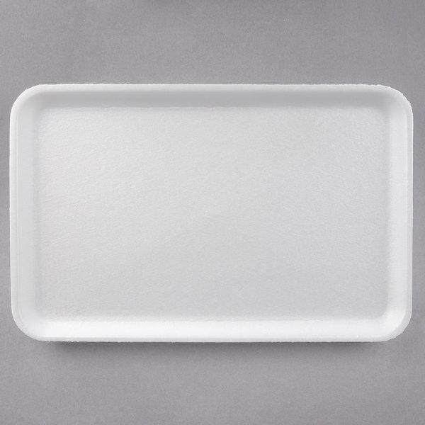 CKF 88116 (#16S) White Foam Meat Tray 11 3/4 inch x 7 1/2 inch x 5/8 inch - 250/Case