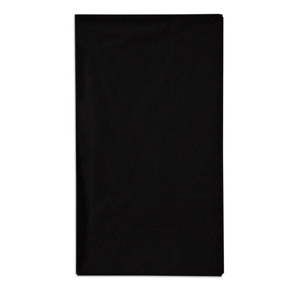Black Paper Dinner Napkins, 2-Ply, 15 inch x 17 inch - Hoffmaster 180513 - 1000/Case