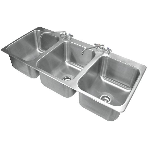 advance tabco di 3 1612 3 compartment drop in sink   16   x 20   x 12   bowls tabco di 3 1612 3 compartment drop in sink   16   x 20   x 12   bowls  rh   webstaurantstore com
