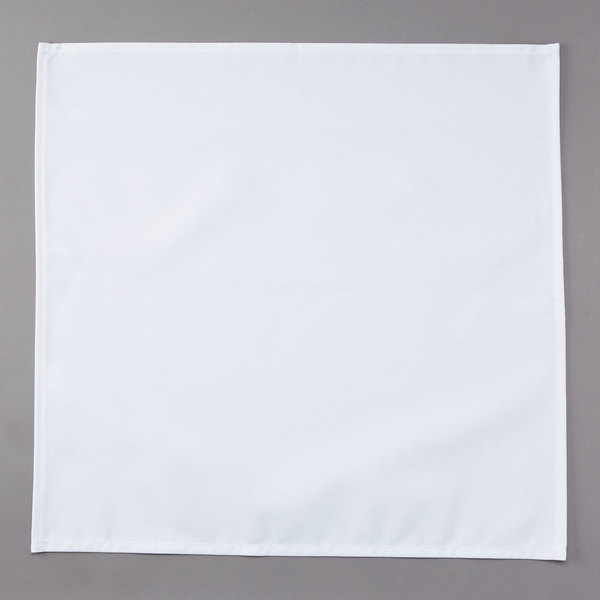 Intedge White 65 35 Polycotton Blend Cloth Napkins 20 X 20 12 Pack