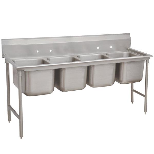 "Advance Tabco 9-4-72 Super Saver Four Compartment Pot Sink - 81"""