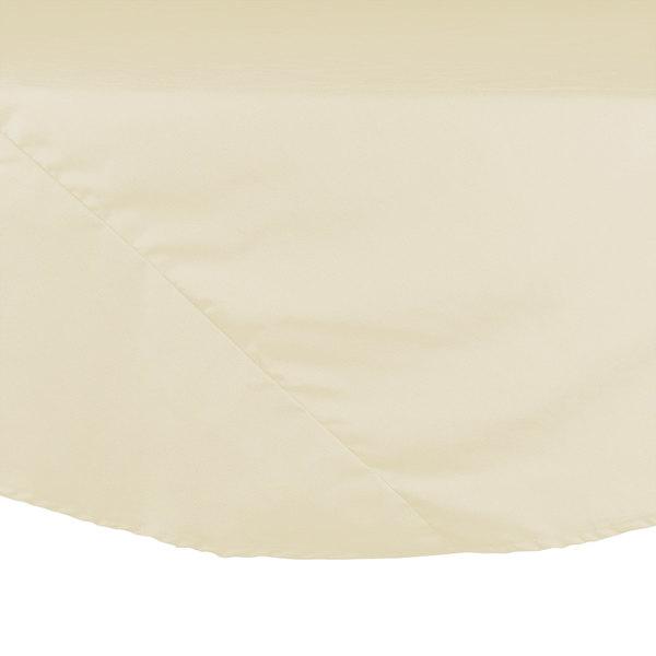 "83"" Ivory Round Hemmed Polyspun Cloth Table Cover"