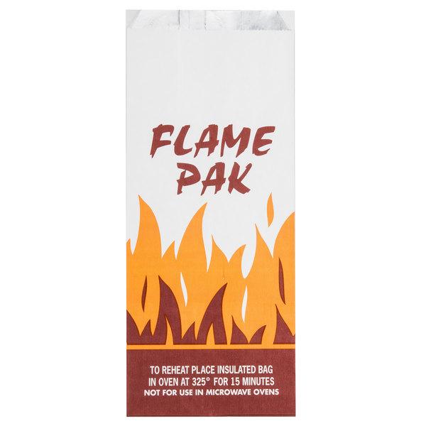 Bagcraft Packaging 300481 Foil BBQ Bag Qt. Size with 'Flame Pak' Design - 1000/Case