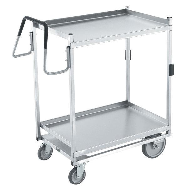 "Vollrath 97207 Heavy-Duty Stainless Steel 2 Shelf Utility Cart - 44"" x 23"" x 44 1/2"" Main Image 1"
