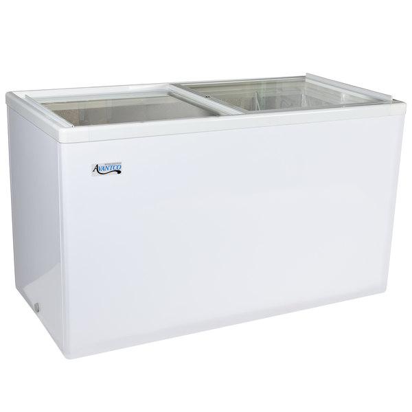 Avantco ICFF11 Flat Lid Display Freezer - 10.6 cu. ft.