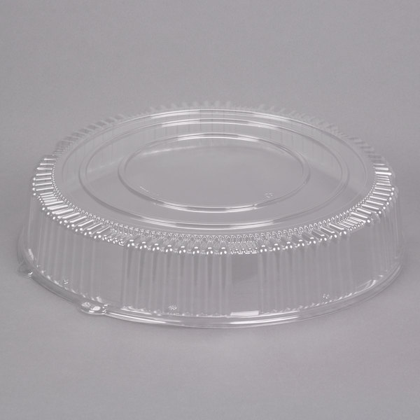 """WNA Comet A18PETDM Checkmate 18"""" Clear PET Plastic Round High Dome Lid - 5/Pack Main Image 1"""