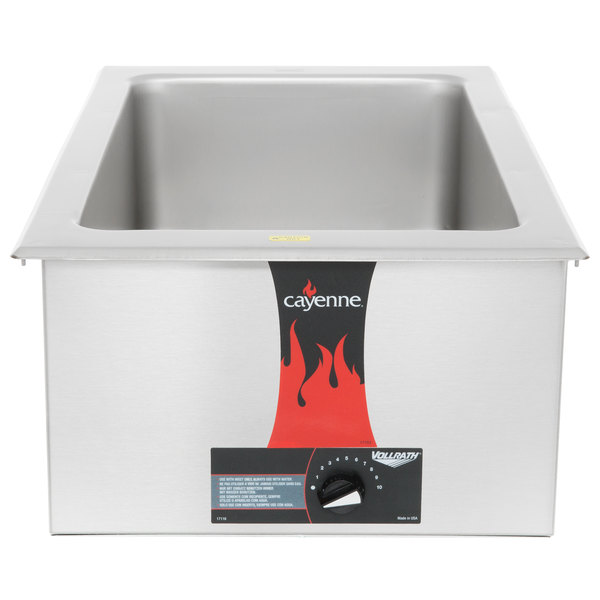 Vollrath 72001 Cayenne Full Size Drop In / Countertop Food Warmer - 120V, 1000W