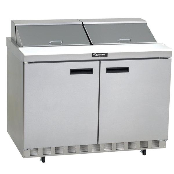 "Delfield 4448N-12 48"" 2 Door Refrigerated Sandwich Prep Table"
