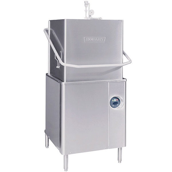 Hobart AM15-6 Single Rack High Temperature Straight/Corner Dishwasher with Booster Heater - 208/240V, 1 Phase