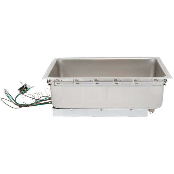 "APW Wyott BM-80CD-120-HP Bottom Mount 12"" x 20"" Insulated High Performance Hot Food Well with Drain and Square Corners - 120V"