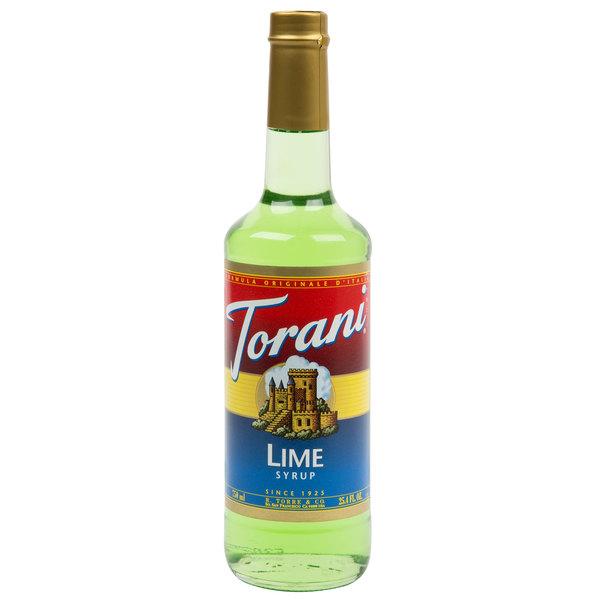 Torani 750 mL Lime Flavoring / Fruit Syrup