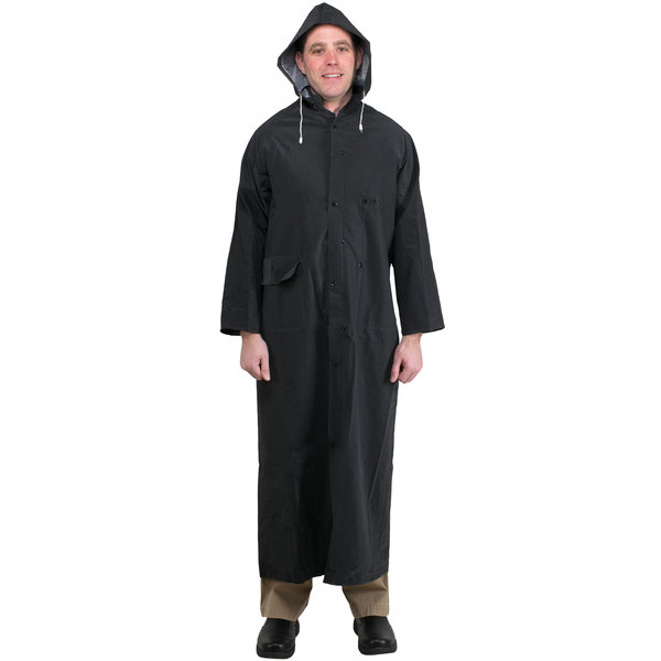 "Black 2 Piece Rain Coat 60"" - XL"