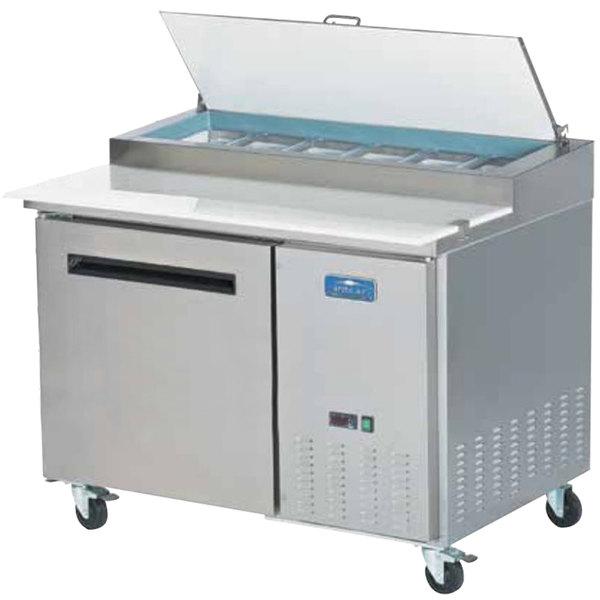 "Arctic Air APP48R 48"" One Door Pizza Prep Refrigerator Table"