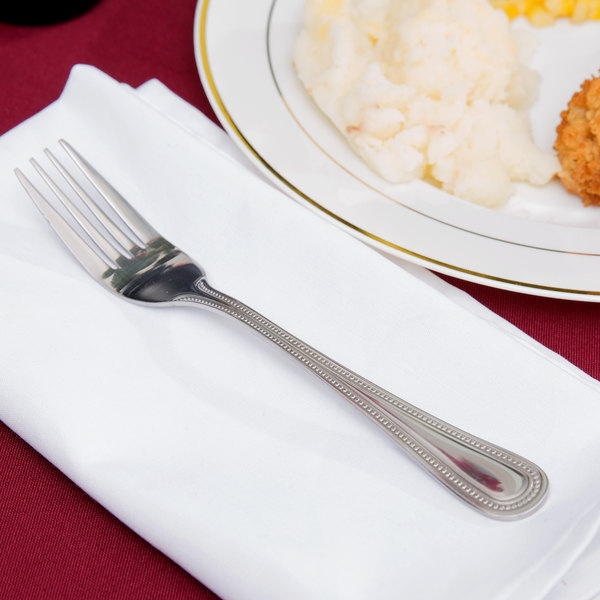 Primrose Flatware Stainless Steel Dinner Fork - 36/Case